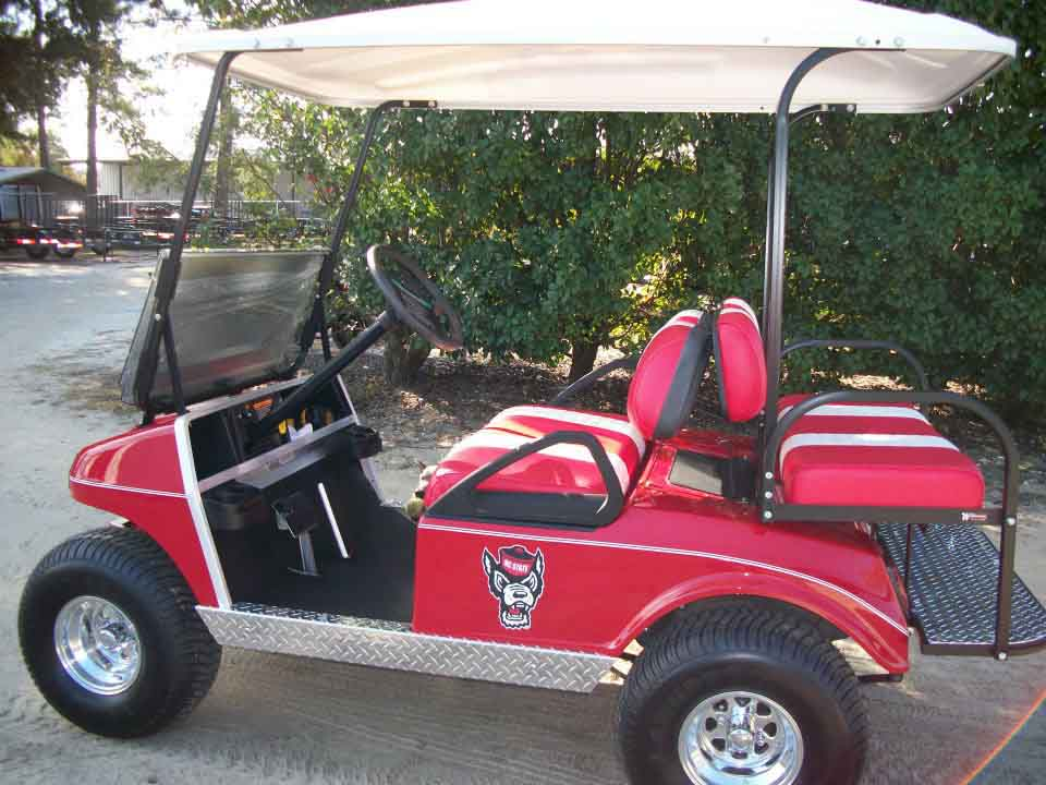 4 Seater NC State Wolf Pack Golf Car