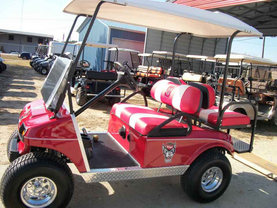 4 Seater Red Golf Car