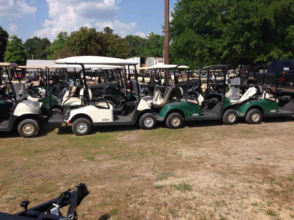 Lot with golf cart